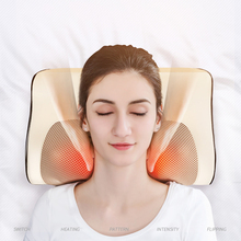 Infrared Heating Neck Shoulder Back Massage Relaxation Electric Shiatsu Massager Cushion Device Cervical Pillow Massageador Body electric infrared heating kneading neck shoulder back body spa massage pillow car chair shiatsu massager masaj device