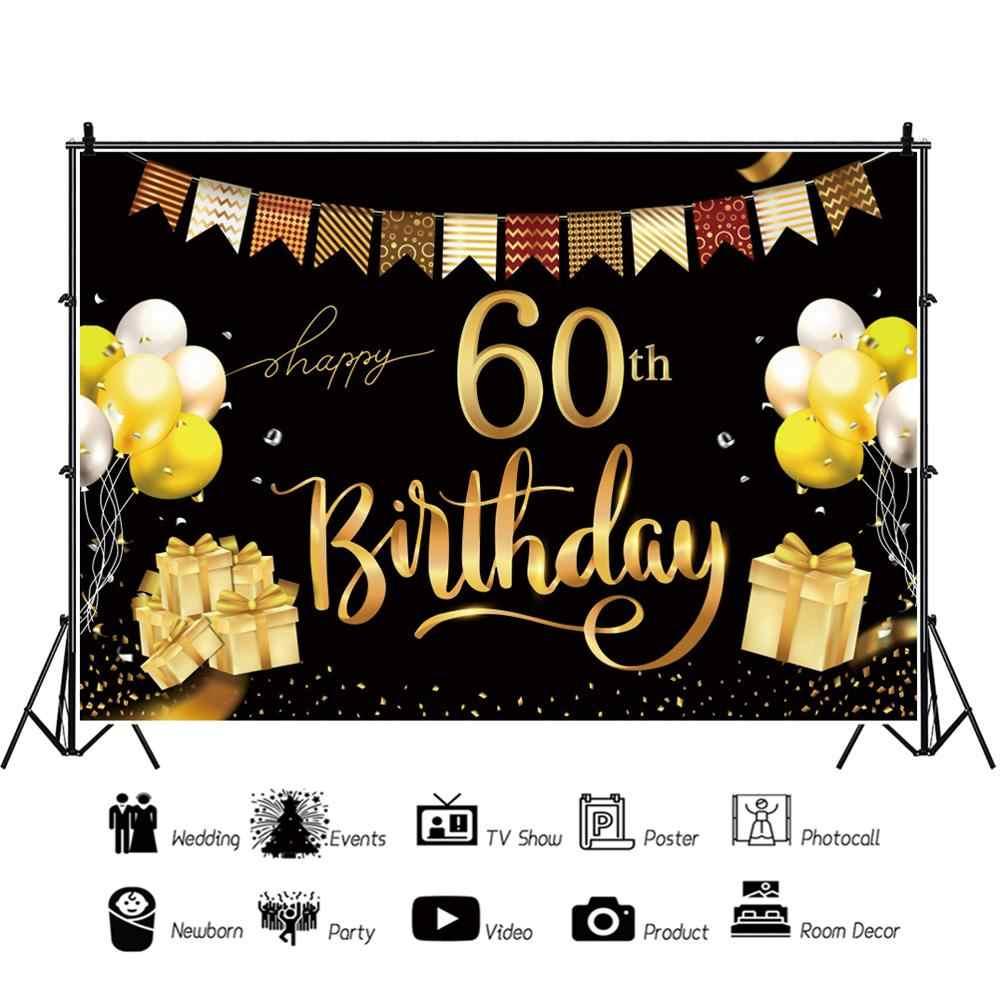 Personnalisé 18th 21st 30th 40th 50th Joyeux Anniversaire Photo Poster Bannière N89