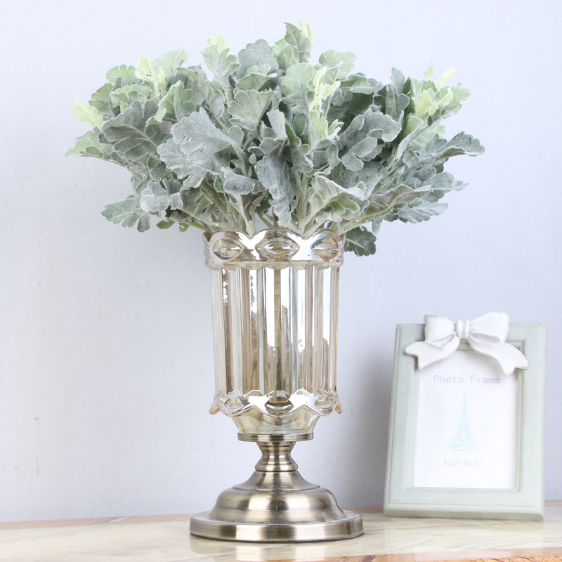 Model Small Yinqiao Leaf Model Senecio Cineraria Flower Arrangement Accessories Imitation Flowers Artificial Green Vegetation Fl
