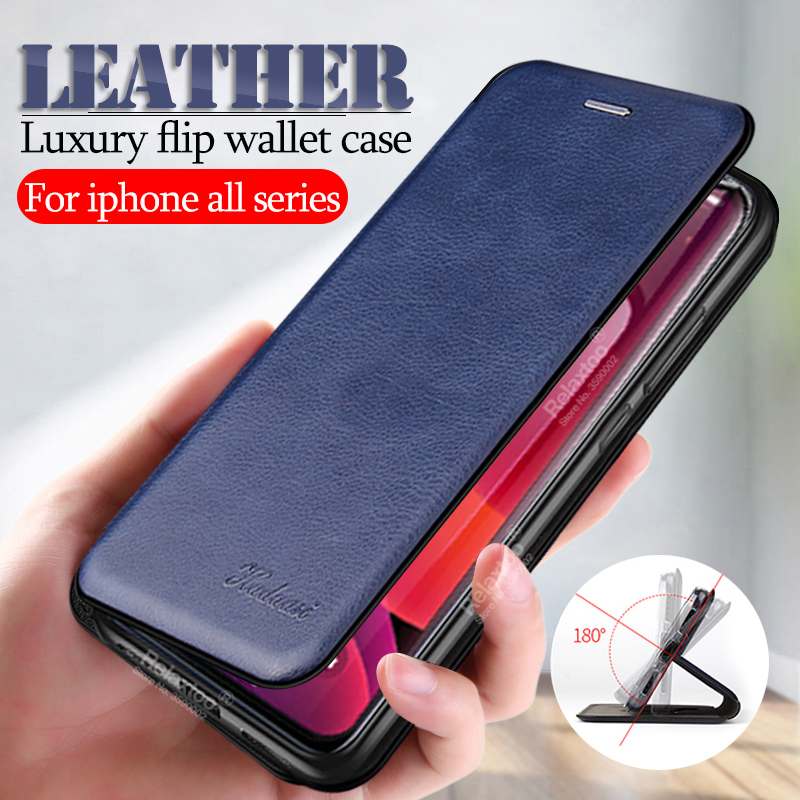 <font><b>leather</b></font> wallet case For <font><b>iphone</b></font> x xs max xr flip stand <font><b>cover</b></font> cases on the For <font><b>iphone</b></font> 11 pro <font><b>6</b></font> 7 8 plus Fashion phone coque fundas image
