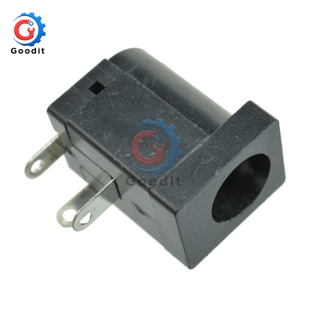 5Pcs DC-005 Black DC Power Jack Socket Connector 5.5x2.1mm Barrel-Type PCB Mount