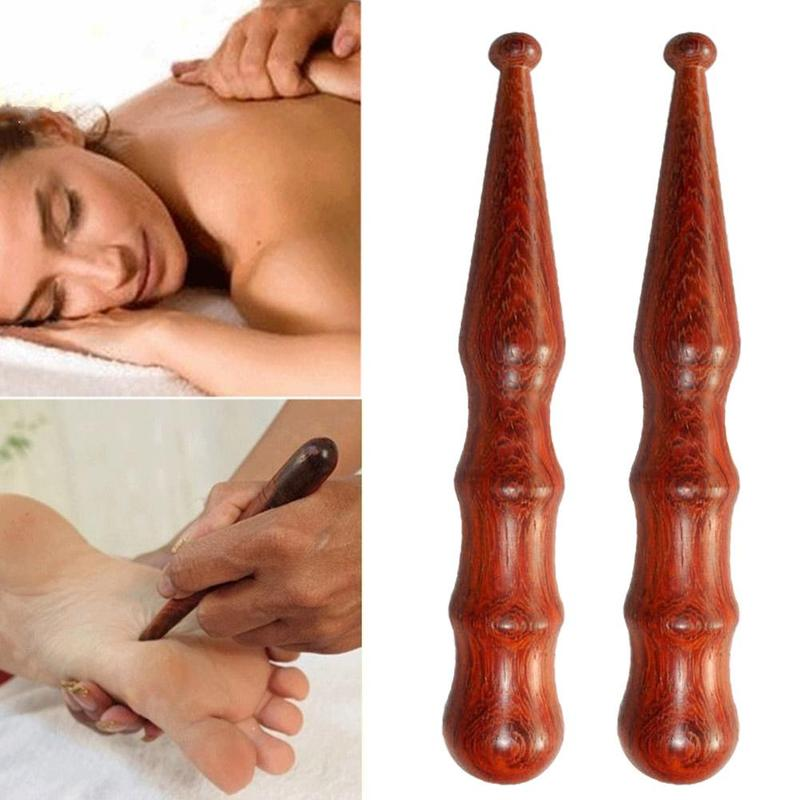 Rosewood Spa Muscle Roller Stick Cellulite Blaster Deep Tissue Fascia Trigger Point Release Self Acupoint Massage Relax Wooden
