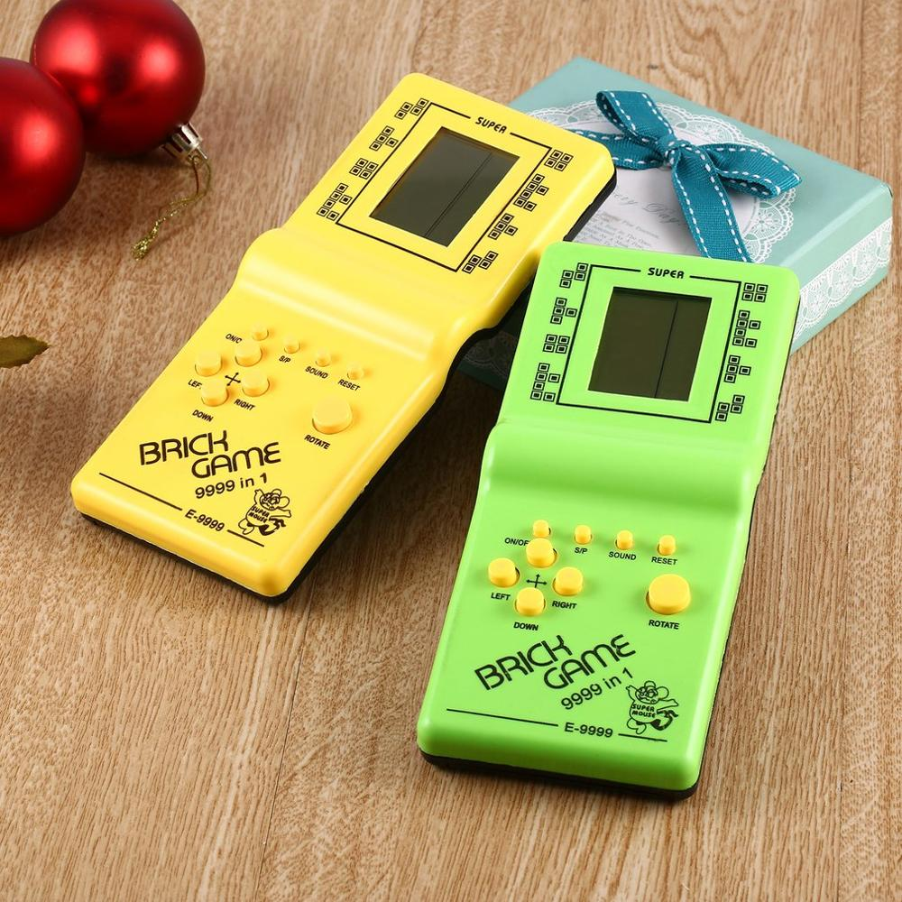 2020 Classic Tetris Hand Held LCD Electronic Game Toys Fun Brick Game Riddle Handheld Game Console Random color
