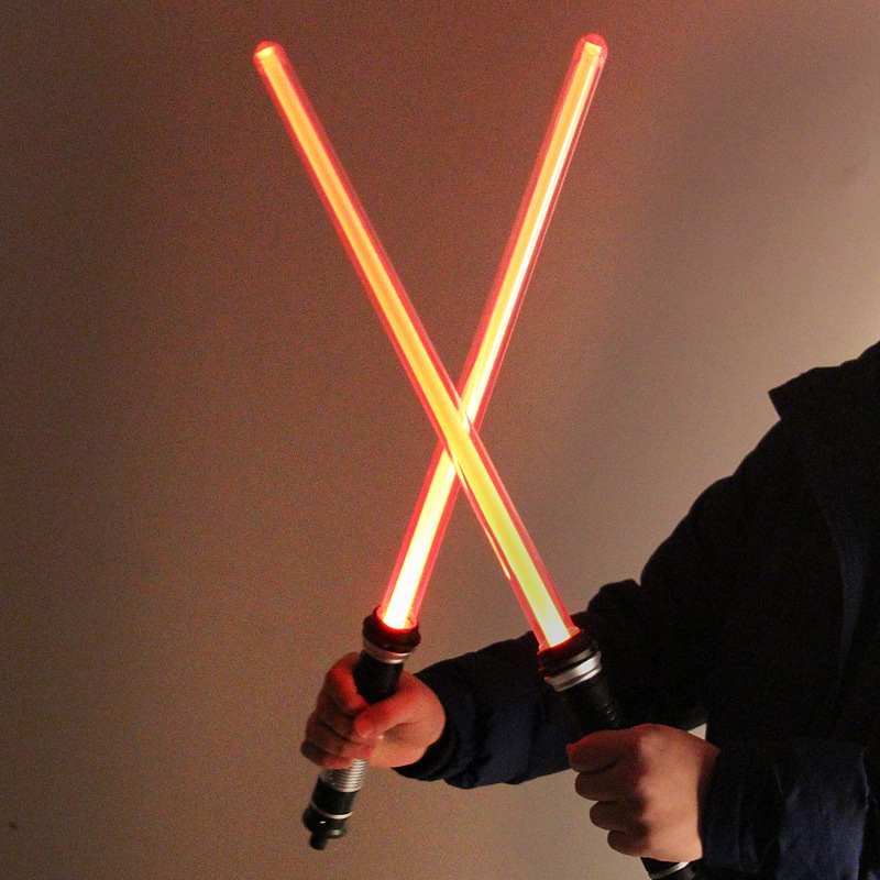 2PCS Star Wars Toy Laser Lightsaber Cosplay Toys Darth Vader Jedi Rey Sword Cosplay Kids Toys