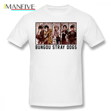Bungou Stray Dogs T Shirt Anime T-Shirt Cotton Graphic Tee Man 5x Short-Sleeve Funny Streetwear Tshirt