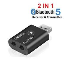 Bluetooth 5.0 ses alıcısı verici 2 IN 1 RCA 3.5mm 3.5 Jack AUX Stereo müzik için USB kablosuz adaptör TV araba PC hoparlör