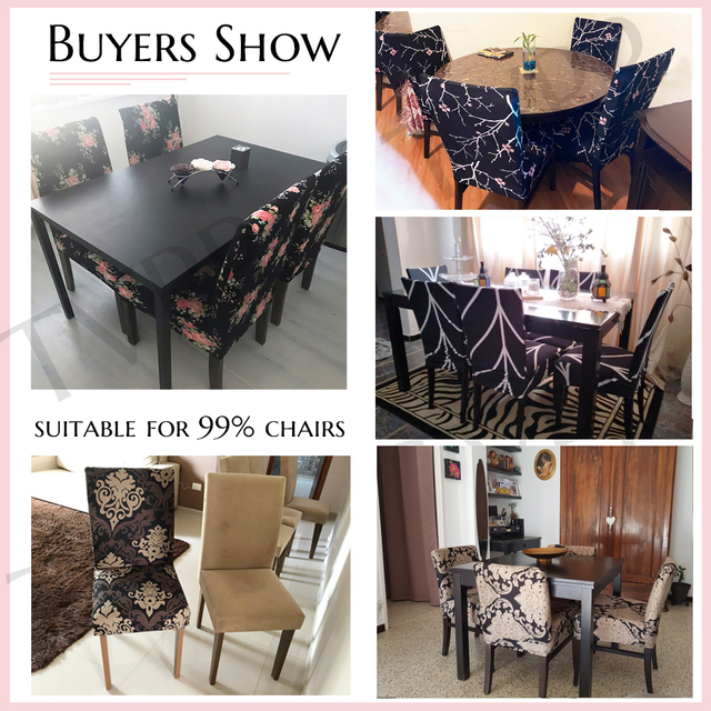 Elastic Fabric Printed Chair Cover 4