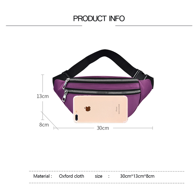 2021 New  For Women Waterproof  Waist Bags Ladies Fashion Bum Bag Travel Crossbody Chest Bags Unisex Hip Bag 6