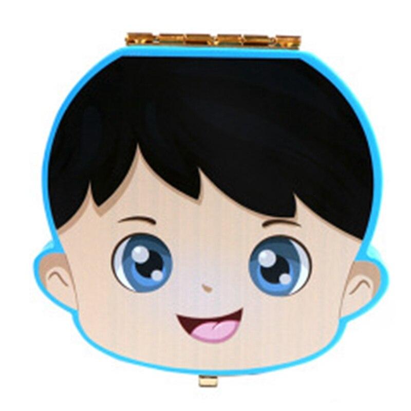 Baby Tooth Box Wooden Milk Teeth Organizer Storage Boys Girls Save Souvenir Case Gift Creative Baby Tooth Organizer For Kids,Blu