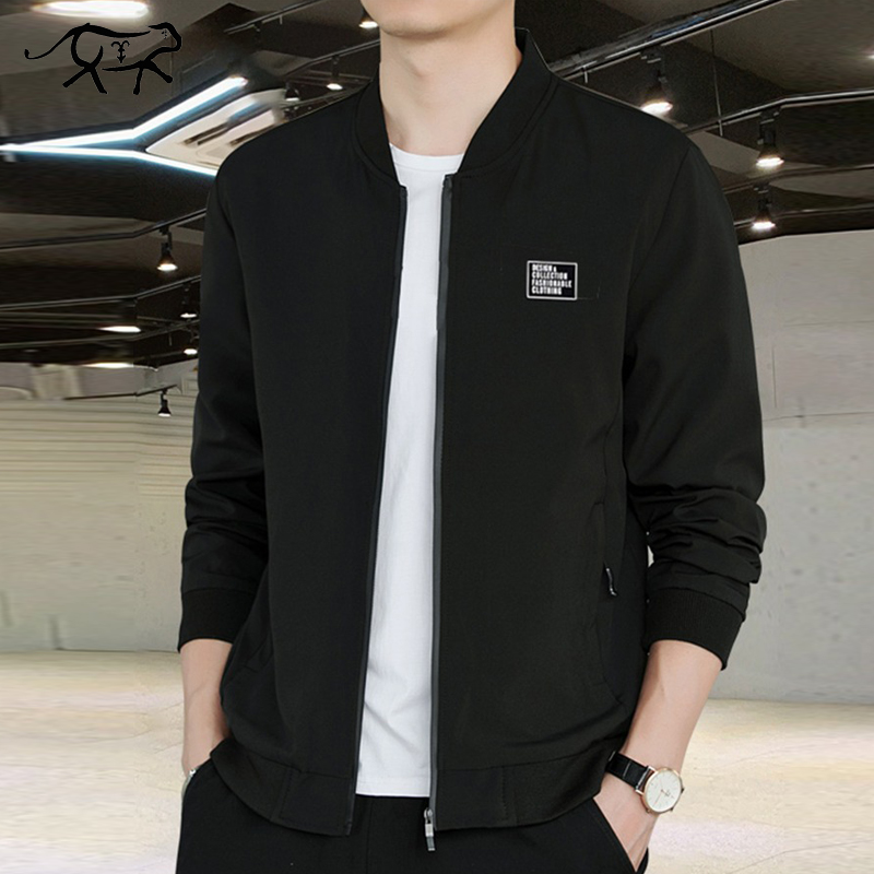 New Winter Autumn Mens Bomber Jacket Stand Collar Casual Windbreaker Male Blue Baseball Jackets Men Thin High Quality Size M-4XL