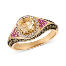 New Elegant Vintage Style Rings Women's Jewelry Alloy Plated 14k Gold and Zircon Crystal Design Ring(China)
