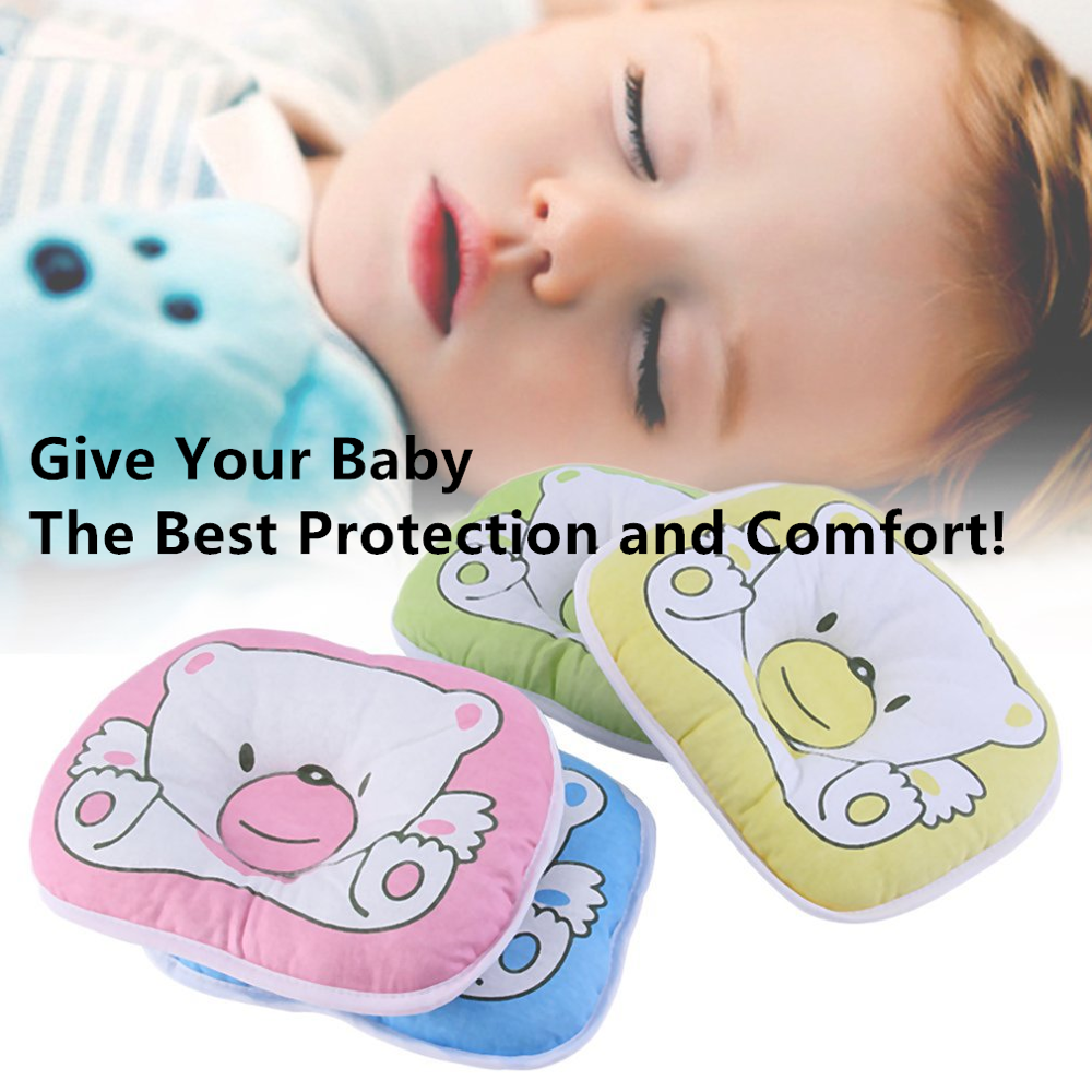 2020 New Wholesale 10pcs/1set  Bear Pattern Pillow Newborn Infant Baby Support Cushion Pad Prevent Flat Head 100%cotton Top Good