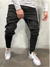 Mens Skinny Jeans 2019 Super Skinny Jeans Men Non Ripped Stretch Denim Pants Elastic Waist Big Size European Hip hop casual jean(China)