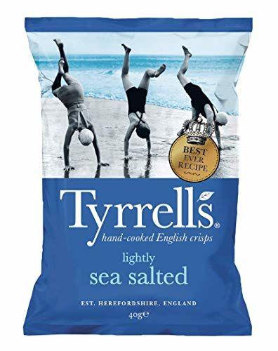 Tyrrells Lightly Sea Salted Crisps, 40g