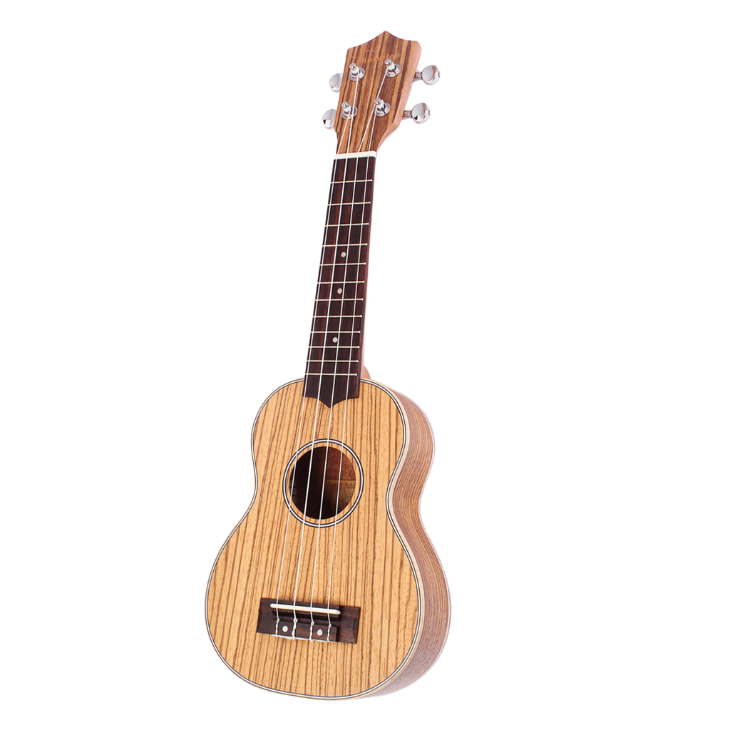21'' Soprano Zebra Wood Ukulele Uke Musical Instrument 4 String Guitar