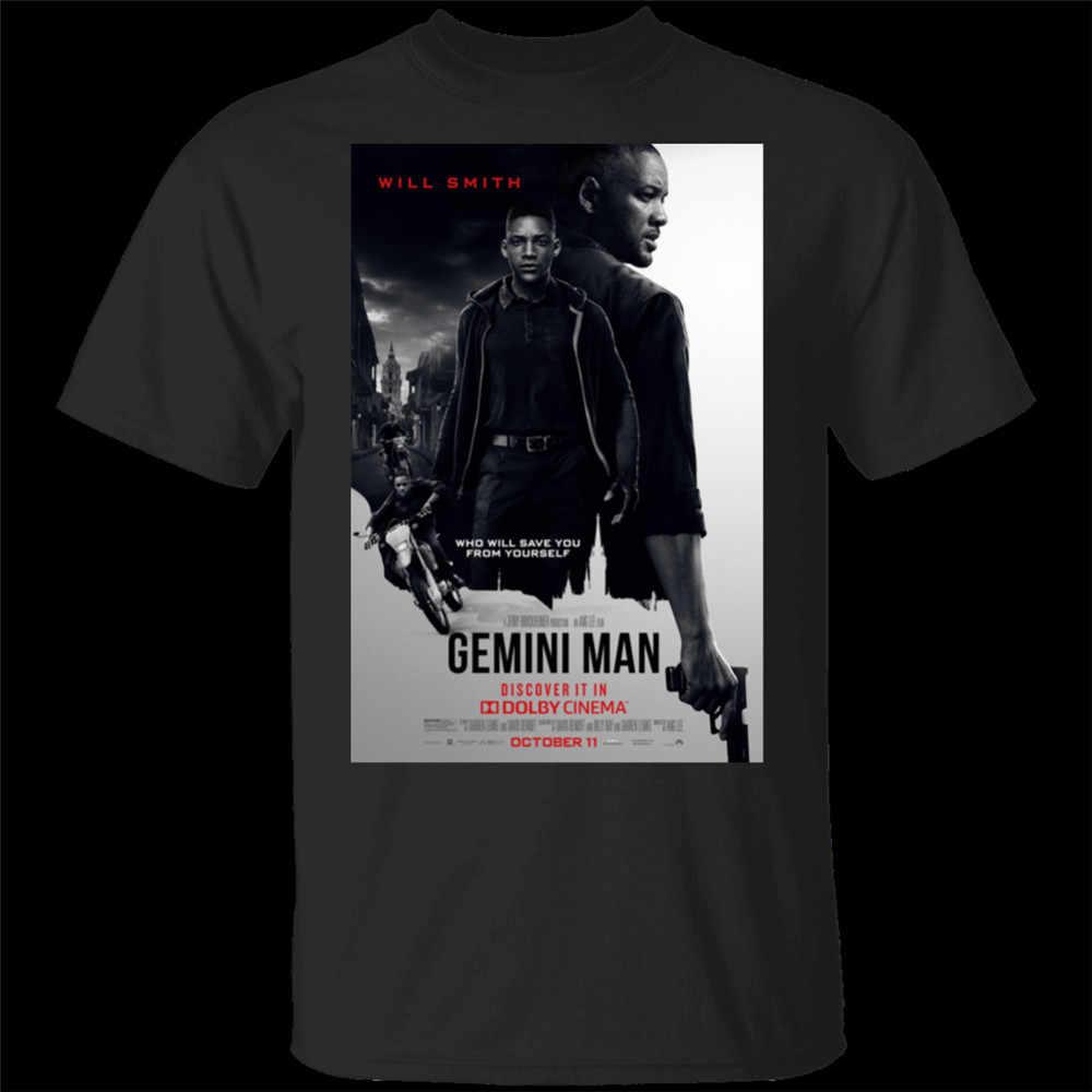 ใหม่ Gemini Man (2020) ภาพยนตร์ทีวีสีดำเสื้อยืด M-XXXL TEE TShirt TEE เสื้อ