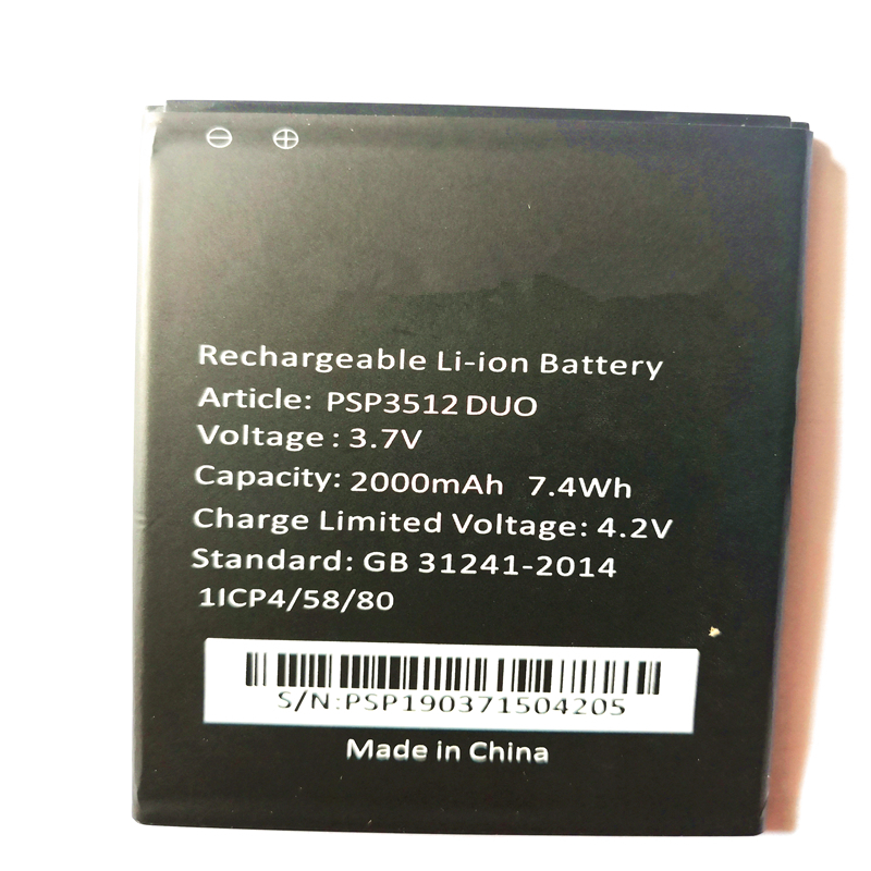 2000mAh Battery For <font><b>Prestigio</b></font> Muze B3 <font><b>PSP3512</b></font> DUO PSP3512DUO Bateria Batterie Cell Phone Batteries with phone stander for gift image