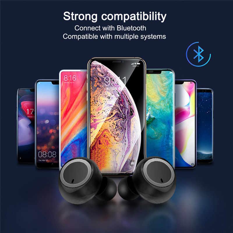 Briame ワイヤレスイヤホン Bluetooth V5.0 TWS ワイヤレス Bluetooth ヘッドフォンスポーツイヤフォン用のマイクと Samrtphone