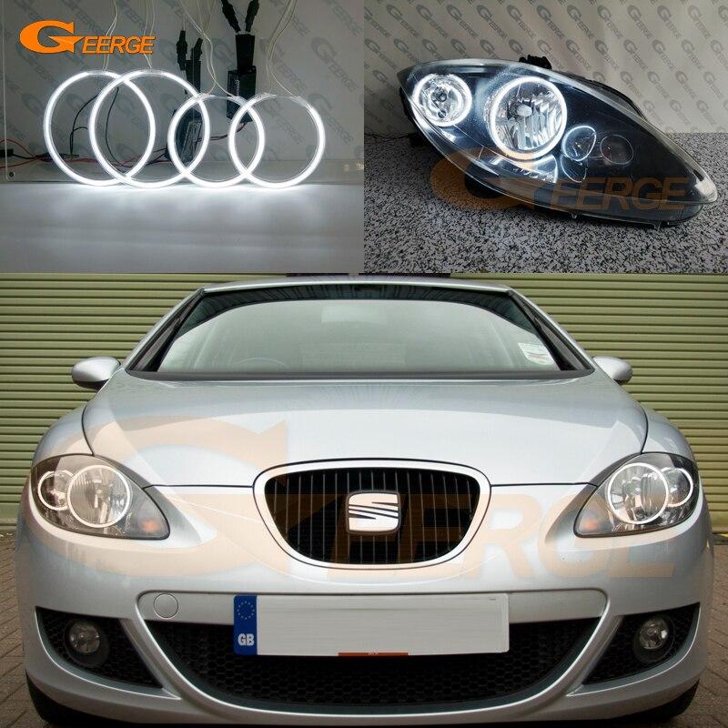 Для Seat leon Mk2 1P 2005 2006 2007 2008 2009 2010 2011 2012 отличные ультра яркие CCFL ангельские глазки набор halo кольца