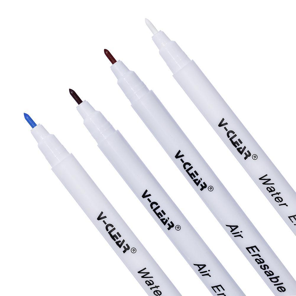 Fabric Marker Water Soluble Pen Single Head Washing Ink Pen DIY Vanishing For Clothing Painting Optional Multi-solor Erasab C0S6