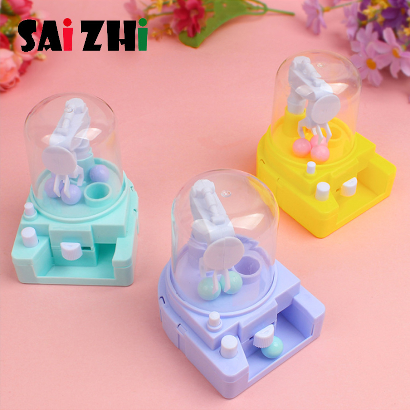 Saizhi Creative Cute Sweet Mini Candy Machine Bubble Gumball Dispenser Coin Bank Kids Toys Children Gift