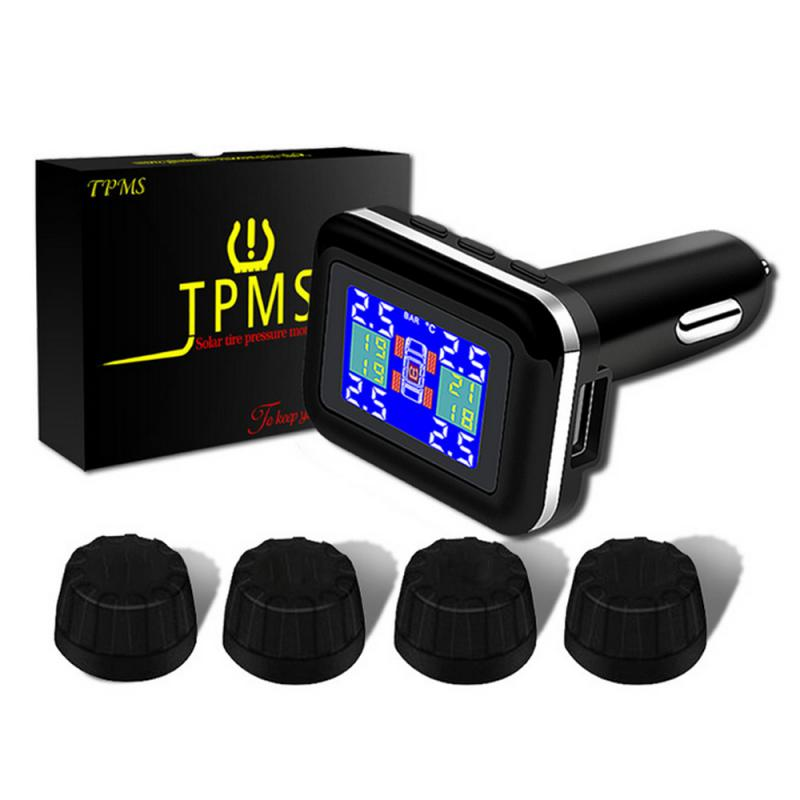 Monitoring-System Cigarette-Socket Tyre-Pressure Car Tpms LED title=
