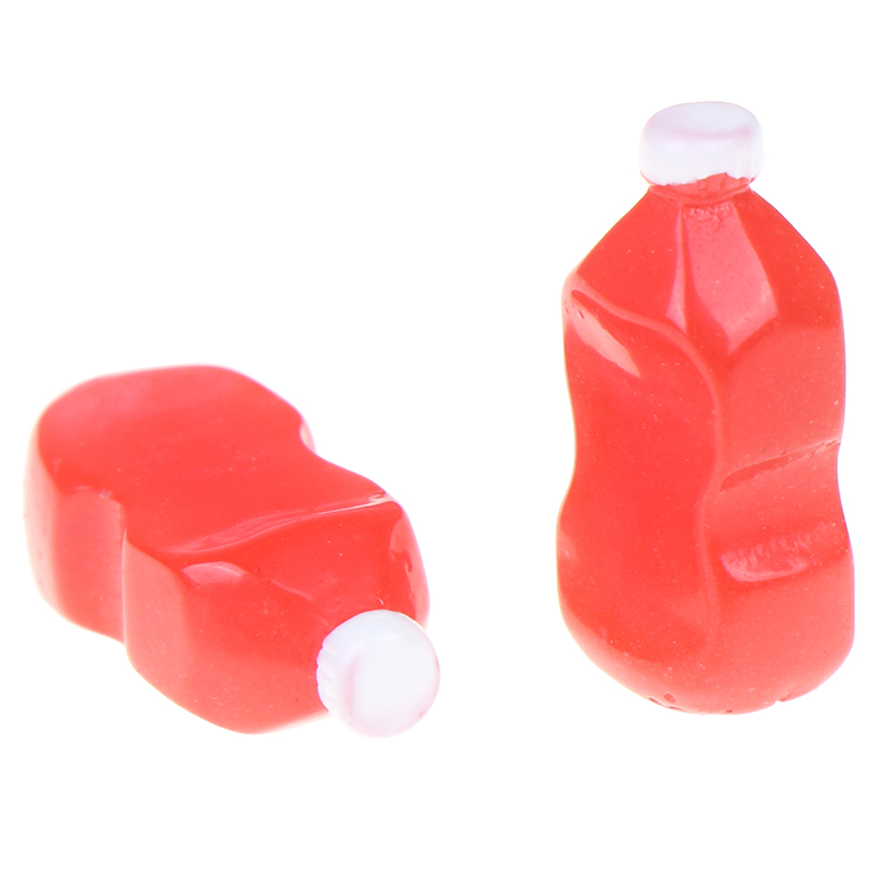 2pcs Mini Bottle Tomato Sauce Squeeze Bottle Miniature 1:12 Dollhouse Kitchen Accessories Dollhouse