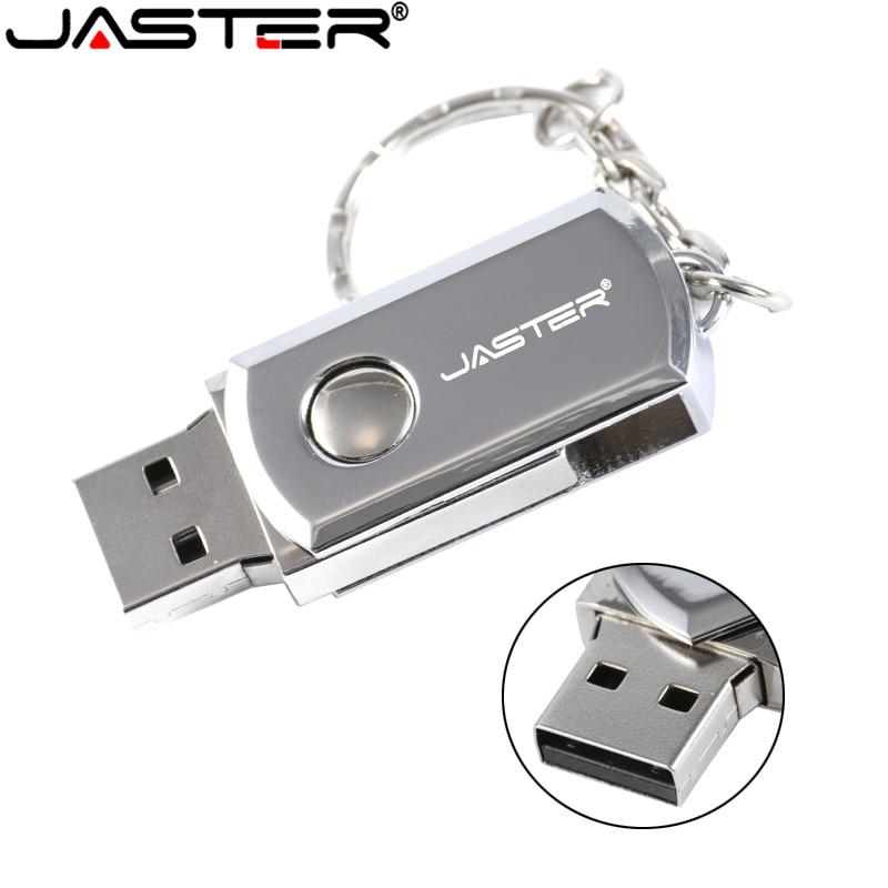 JASTER  Metal Stainless Steel Usb 2.0 Thumb Drive 4GB USB Flash Drive  8GB 16GB 32GB 64GB 10pcs Free Color Printing Logo