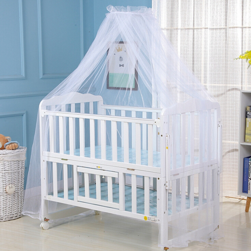 Toddler Crib Cot Canopy Anti Mosquito Babys Girl Boy Bed Room Mosquito Nets Mesh 6 Colors 160*450CM Dome Curtain Decorations Net