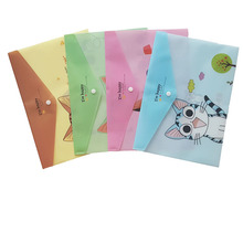 12pcs/lot Lovely Cheese Cat PVC A4 File Folder Document Filing Bag Stationery Bag for student kids pencil case box