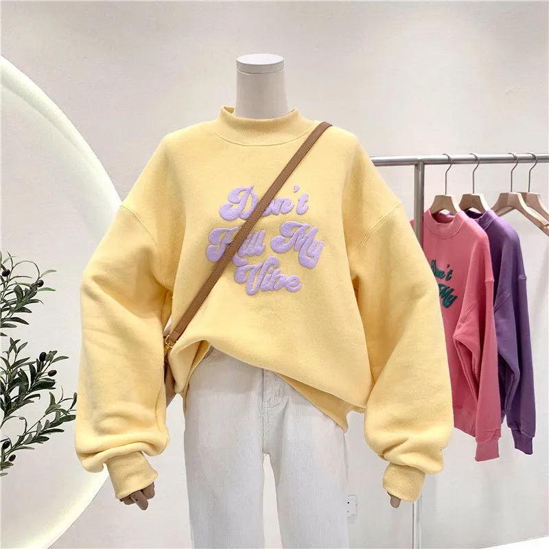 Толстовка женская оверсайз в стиле Харадзюку, Повседневный пуловер, свитшот с длинным рукавом, топ, свитшот, лето 2021