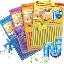 12Pcs/set Sani Sticks sewage decontamination to deodorant The kitchen toilet bathtub drain cleaner sewer cleaning rod Hair Clear