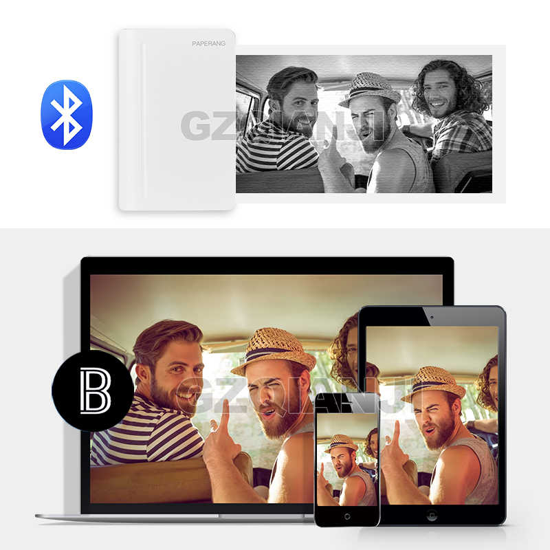 300 dpi tragbarer Bluetooth-Thermodrucker Etiketten Quittungen mobiler Drucker Aufkleber Notizen PAPERANG C1 112 mm Taschen-Fotodrucker f/ür Foto-Bilder kompatibel mit Android iOS Windows Mac