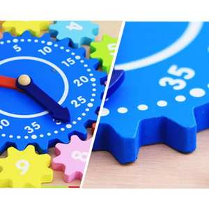 Gear-Block Jigsaw-Puzzle Digital Kid Wood for Children Gift Educational-Toys Multicolor