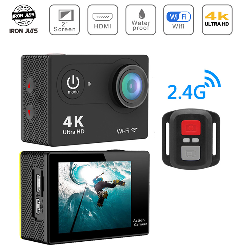 H9 Gopro 4K 32G Action Camera 30m Waterproof Sport Camera Support 170° Wide Angle WiFi Sports Cam with Remote For Motorcycle Car