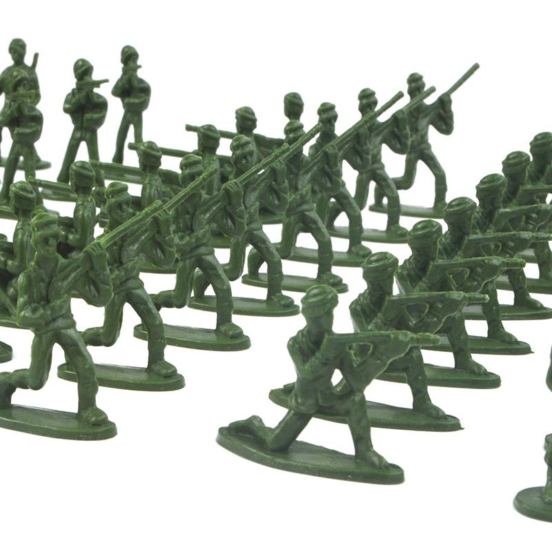 100Pcs/Lot Bagged Soldier Toy Model Assembled Doll Static Small Soldier Character Military Model Children's Toy Gift Wholesale