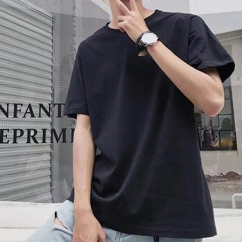 Plus Size T shirts for Men Solid Color Loose Casual Short Sleeve Basic Top Mens Summer O Neck tshirt