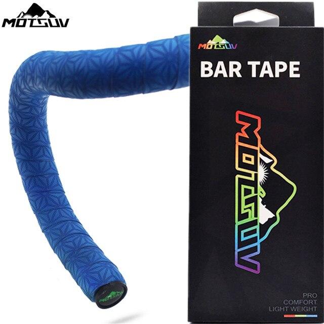 MOTSUV Road Bicycle Handlebar Tape Belt Cycling Race Handle Bar Grip Wrap Anti-slip Anti-sweat Strap 2 Bar Bike Accessories
