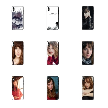 Fifty Shades Grey Dakota Johnson Black Soft TPU Luxury Fashion Phone Case For Galaxy S20 S10e S10 S9 S8 S7 S6 S5 edge Lite Plus image
