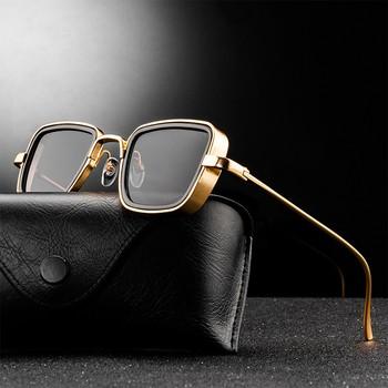 2021 nowe okulary Steampunk moda mężczyzna kobiet marka projektant Vintage kwadratowa rama metalowa okulary UV400 okulary tanie i dobre opinie AOOFFIV CN (pochodzenie) SQUARE Dla osób dorosłych STOP NONE MIRROR Przeciwodblaskowe 45MM Z poliwęglanu 58157 50MM Men Women