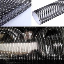 Car Auto Headlight Tinting Perforated Mesh Not Block Sight Front Head Lamp Protection Film Sticker 50*106cm