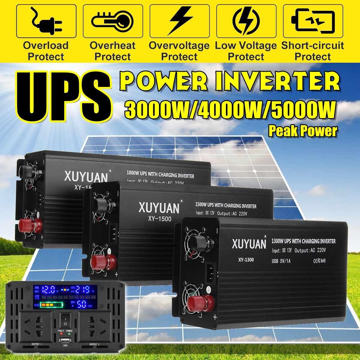 3000//4000//5000W Solar Power Inverter DC 12V to AC 130V Modified Sine Converter