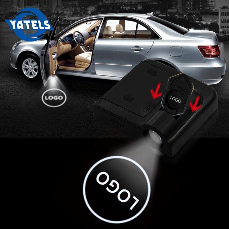 2 PCS Wireless Led Car Door Welcome Laser Projector Logo Ghost Shadow Light For AMG Sline Opel Citroen Hyundai Kia Honda Renault