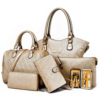 Women's Bag 2020 New Design Popular PU Leather Ladies Bag 5 In 1 Set Lady Handbags for Wholesale Purses and Handbags