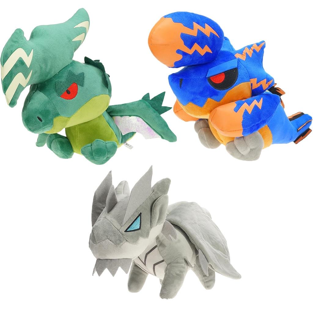 30cm Game Monster Hunter Kushala Daora Dragon Brachydios Dragon Green Khezu Dragon Doll Plush Toys Stuffed Model Gift