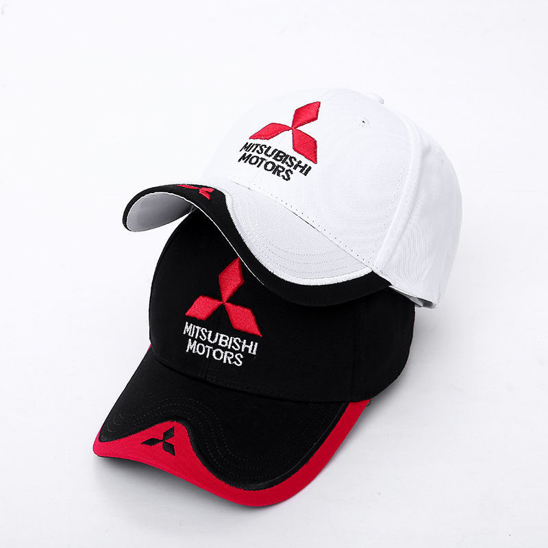 Wholesale 2019 New Fashion 3D Mitsubishi Hat Cap Car Logo MOTO GP Racing F1 Baseball Cap Hat Adjustable Casual Trucket Hat