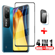 protective glass on Poco M3 Pro 5G full cover tempered glass For Xiaomi Poco M3 Pro 5G X3 F3 screen protector camera lens glass