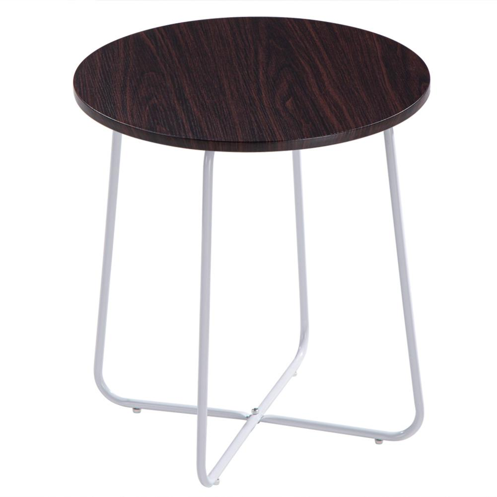 Delivery From United States Sofa Side Table Coffee Table Round Table Dark Brown Desktop MDF Metal 48 X 48 X 52cm
