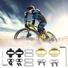 Mountain Bicycle Pedals Cleat Biking MTB Bike Cleat Set Clips Kit W/Hardware Nuts Cleats SPD Pedals Plate Gasket Sheet Access lixada mountain biking touring mountain clipless pedals mtb spd clip in bicycle pedals cleats clips