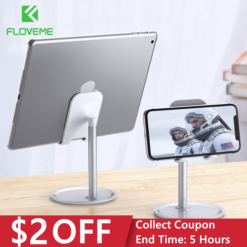 FLOVEME Universal Tablet Phone Holder Desk For IPhone Desktop Tablet Stand For Cell Phone Table Holder Mobile Phone Stand Mount